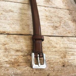 Petite Coach Leather belt